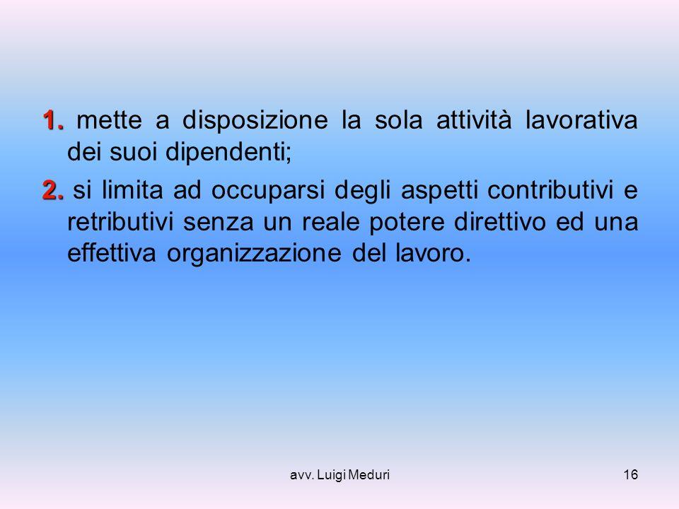 avv. Luigi Meduri16 1. 1.