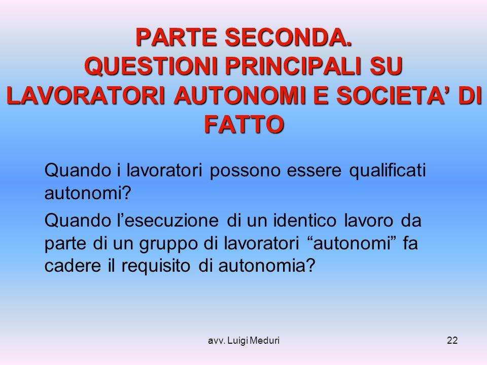avv. Luigi Meduri22 PARTE SECONDA.