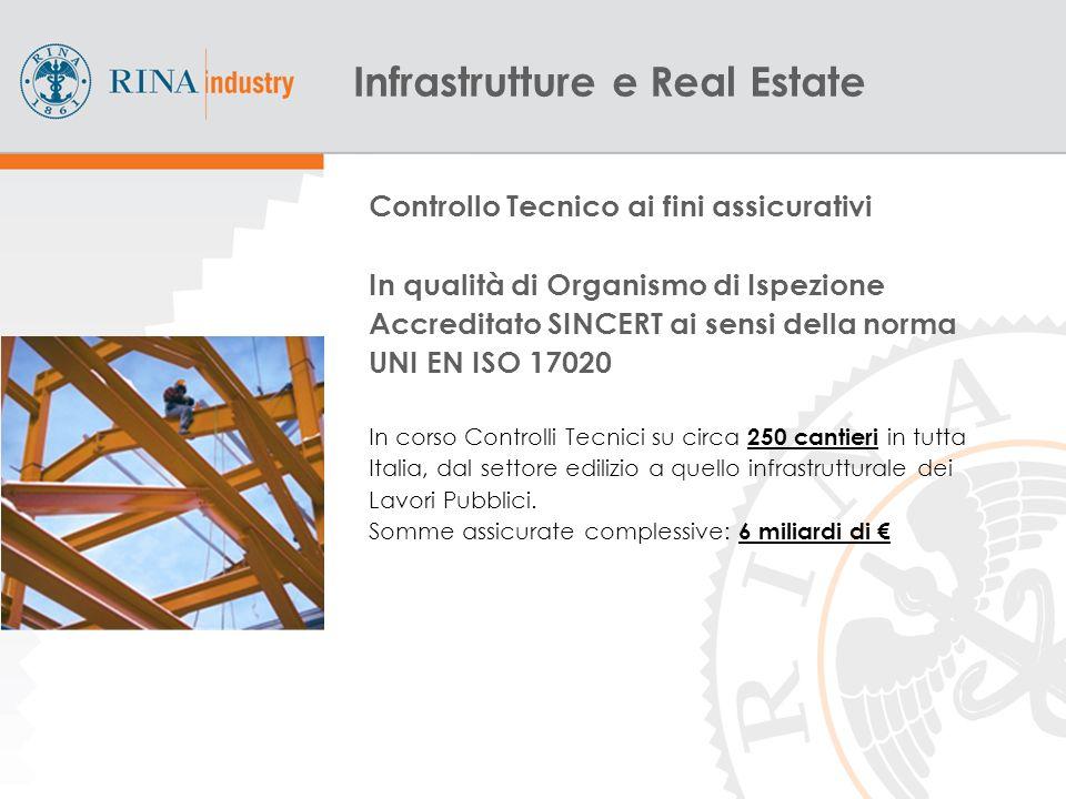 9 Controllo Tecnico ai fini assicurativi In qualità di Organismo di Ispezione Accreditato SINCERT ai sensi della norma UNI EN ISO 17020 In corso Controlli Tecnici su circa 250 cantieri in tutta Italia, dal settore edilizio a quello infrastrutturale dei Lavori Pubblici.