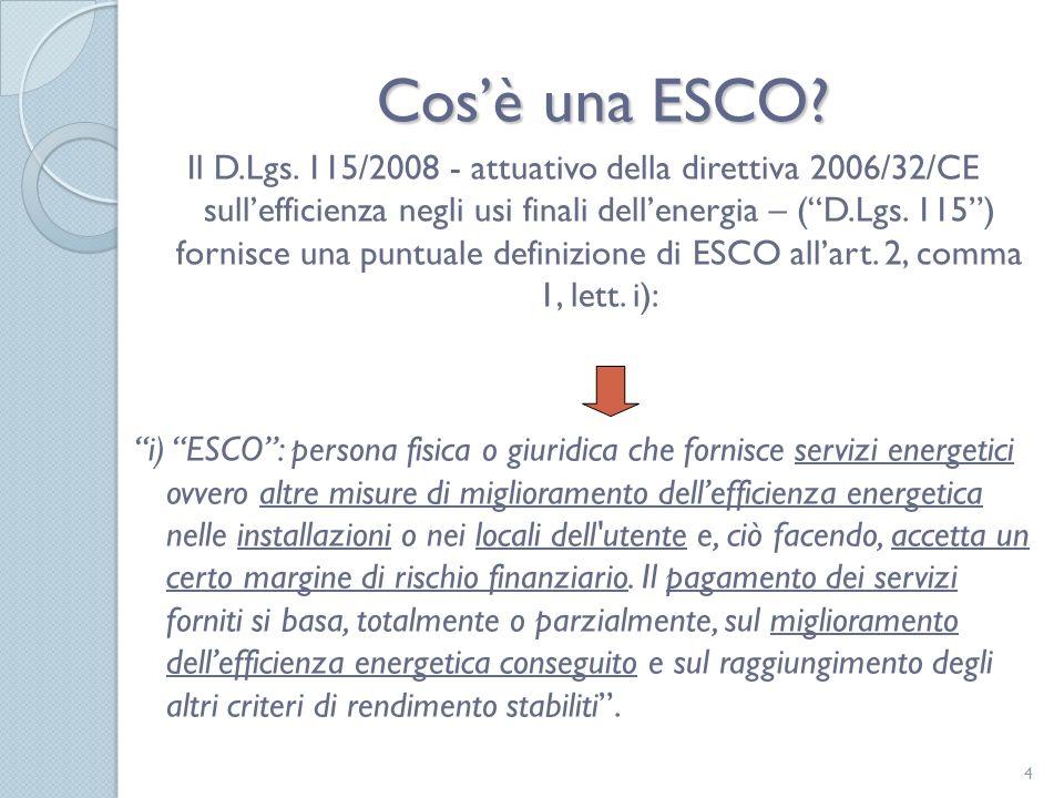 Procedure Do minimum Do maximum Appalti (ESCO/ESPCo) Concessione/PF (ESCO) Contratto di disponibilità?