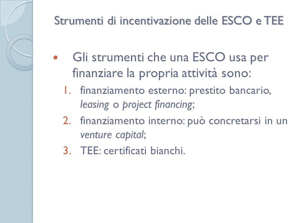 Iniziative UE per lEE: JESSICA Gli Stati membri possono utilizzare una parte della loro dotazione dei fondi strutturali con strumenti finanziari - tipo JESSICA - per agevolare gli investimenti in efficientamento energetico (EE).