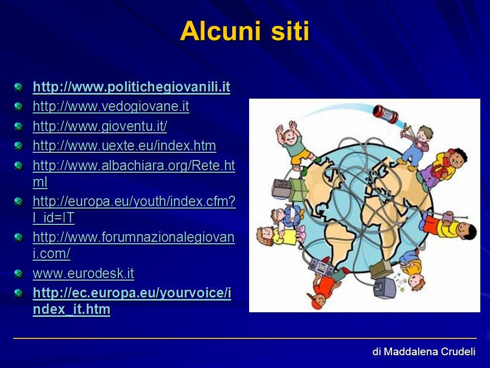 di Maddalena Crudeli Alcuni siti http://www.politichegiovanili.ithttp://www.politichegiovanili.it http://www.politichegiovanili.it http://www.politich