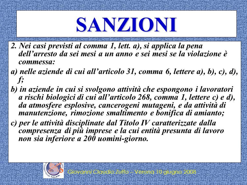 Giovanni Claudio Zuffo – Verona 10 giugno 2008 LE OMBRE Il D.Lgs.81/08 presenta qualche ombra… Decreti di rinvio (es.