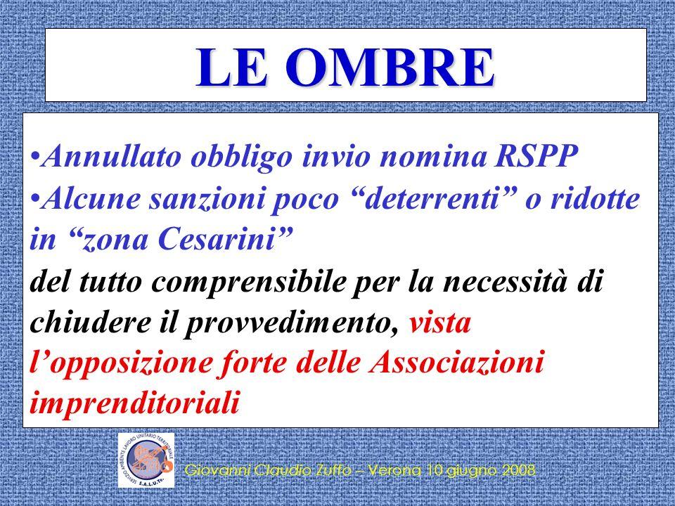 Giovanni Claudio Zuffo – Verona 10 giugno 2008 Lattuazione … Il provvedimento è in vigore dal 15 maggio 2008,Il provvedimento è in vigore dal 15 maggio 2008, ma per le disposizioni di cui agli artt.