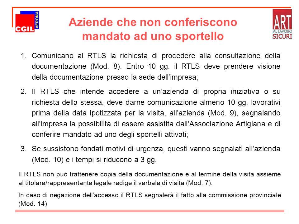 1.Comunicano al RTLS la richiesta di procedere alla consultazione della documentazione (Mod.