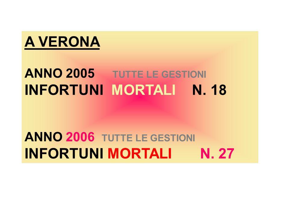 A VERONA ANNO 2005 TUTTE LE GESTIONI INFORTUNI MORTALI N.