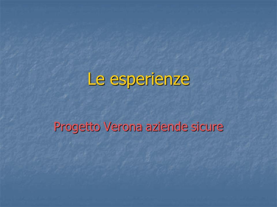 Le esperienze Progetto Verona aziende sicure