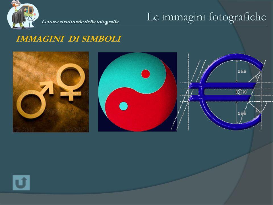 Le immagini fotografiche IMMAGINI DI SIMBOLI Lettura strutturale della fotografia