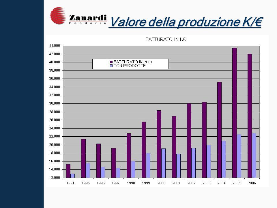 I principali settori di mercato sono: · Macchine Movimento terra (35% circa di produzione) · Organi di trasmissione (20%) · Parti per veicoli industriali (15%).
