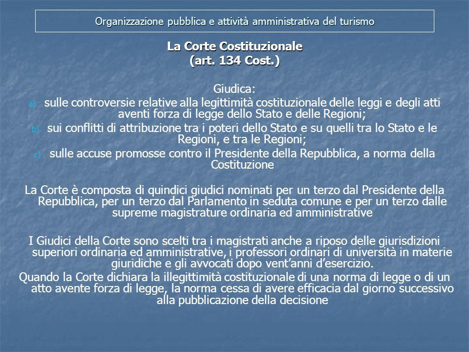 Organizzazione pubblica e attività amministrativa del turismo La Pubblica Amministrazione (artt.