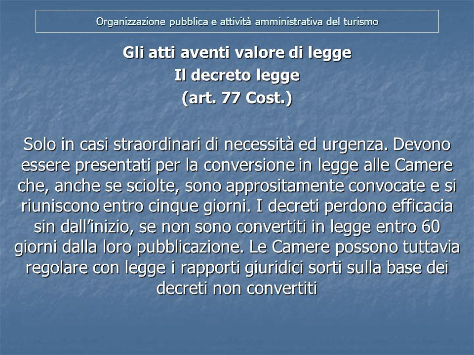 Organizzazione pubblica e attività amministrativa del turismo Il referendum abrogativo (art.