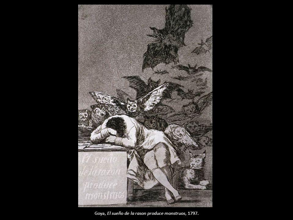Goya, El sueño de la rason produce monstruos, 1797.