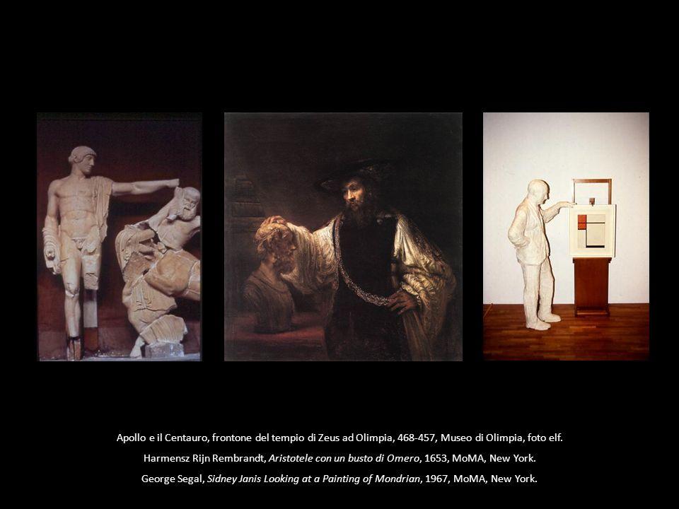 Apollo e il Centauro, frontone del tempio di Zeus ad Olimpia, 468-457, Museo di Olimpia, foto elf. Harmensz Rijn Rembrandt, Aristotele con un busto di