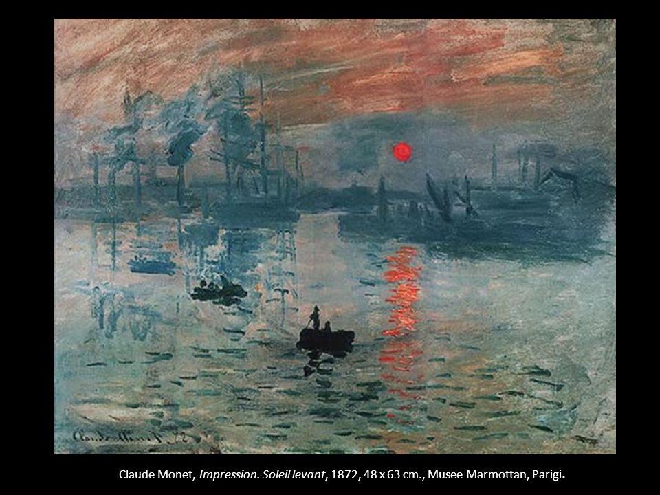 Claude Monet, Impression. Soleil levant, 1872, 48 x 63 cm., Musee Marmottan, Parigi.