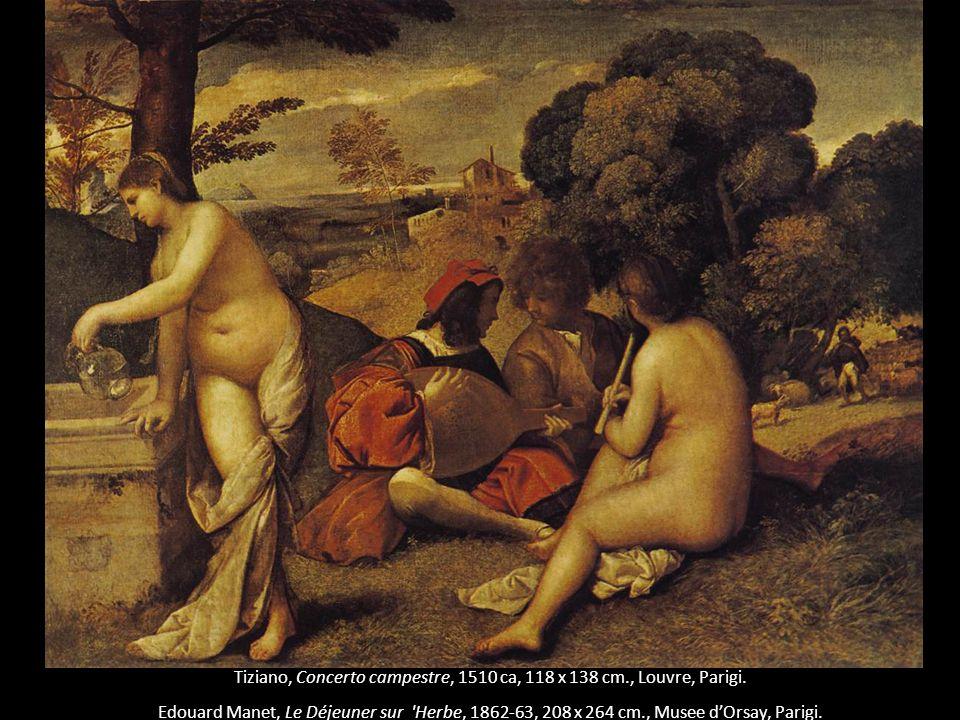 Tiziano, Concerto campestre, 1510 ca, 118 x 138 cm., Louvre, Parigi.