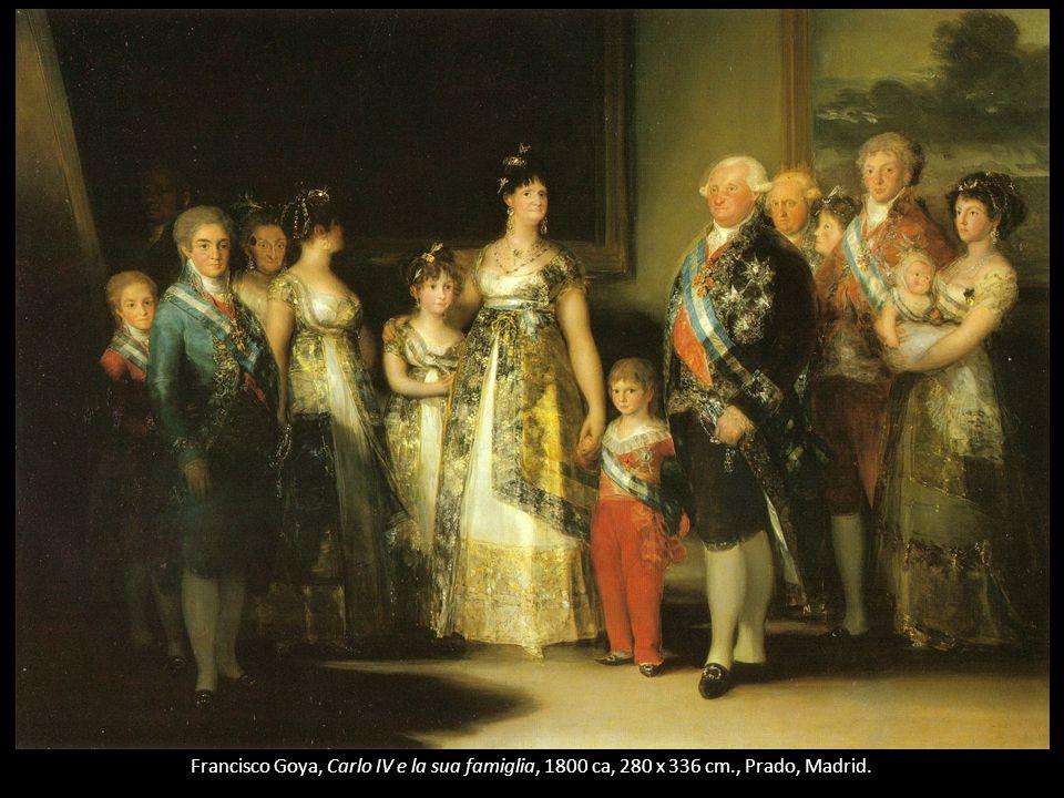 Francisco Goya, Carlo IV e la sua famiglia, 1800 ca, 280 x 336 cm., Prado, Madrid.
