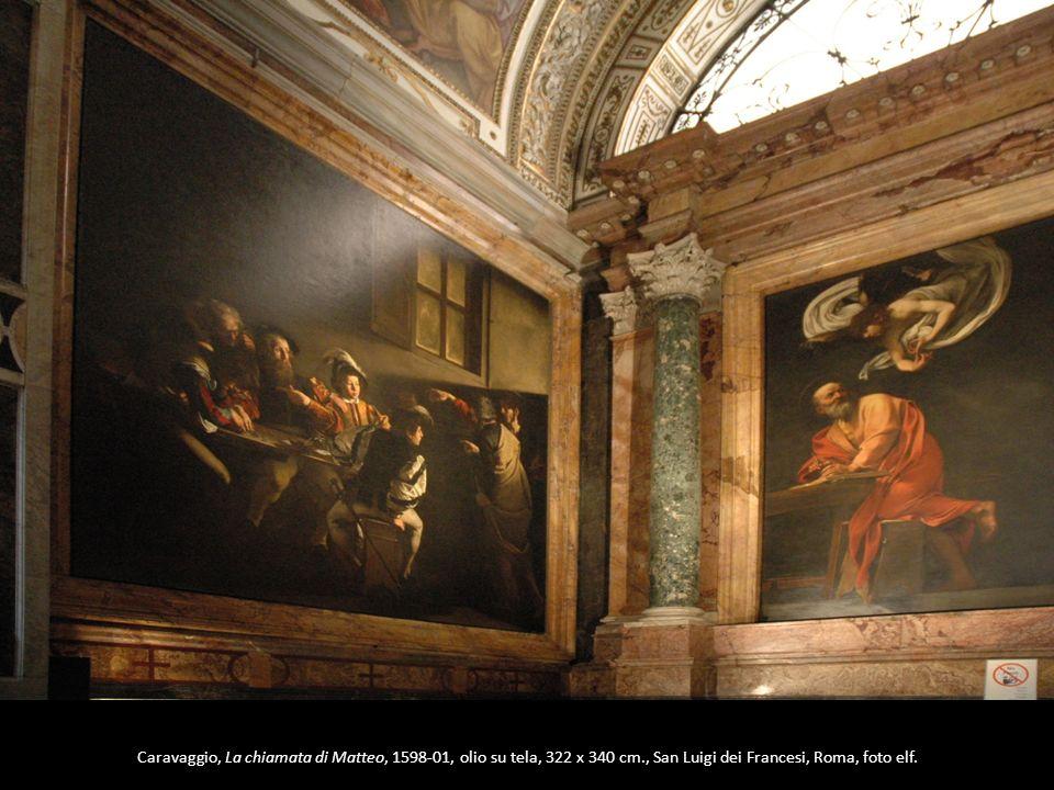 Caravaggio, La chiamata di Matteo, 1598-01, olio su tela, 322 x 340 cm., San Luigi dei Francesi, Roma, foto elf.