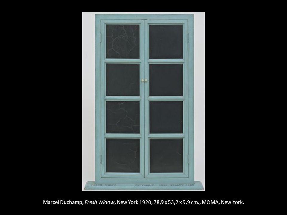 Marcel Duchamp, Fresh Widow, New York 1920, 78,9 x 53,2 x 9,9 cm., MOMA, New York.