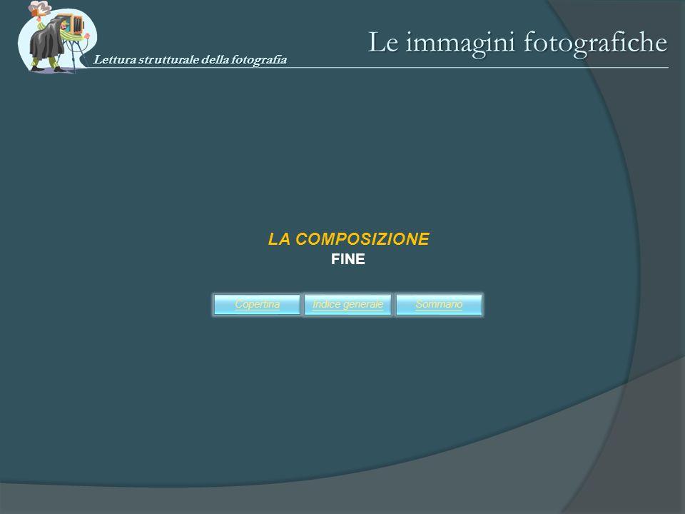 Le immagini fotografiche LA COMPOSIZIONE FINE SommarioIndice generaleCopertina Lettura strutturale della fotografia