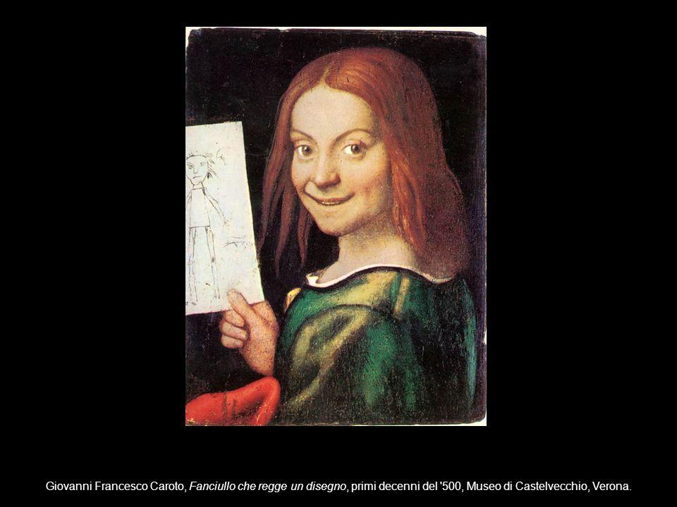 Giovanni Francesco Caroto, Fanciullo che regge un disegno, primi decenni del 500, Museo di Castelvecchio, Verona.