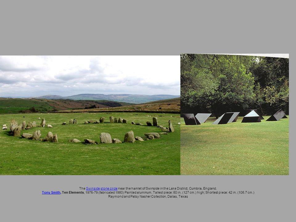 The Swinside stone circle near the hamlet of Swinside in the Lake District, Cumbria, England.Swinsidestone circle Tony SmithTony Smith, Ten Elements,
