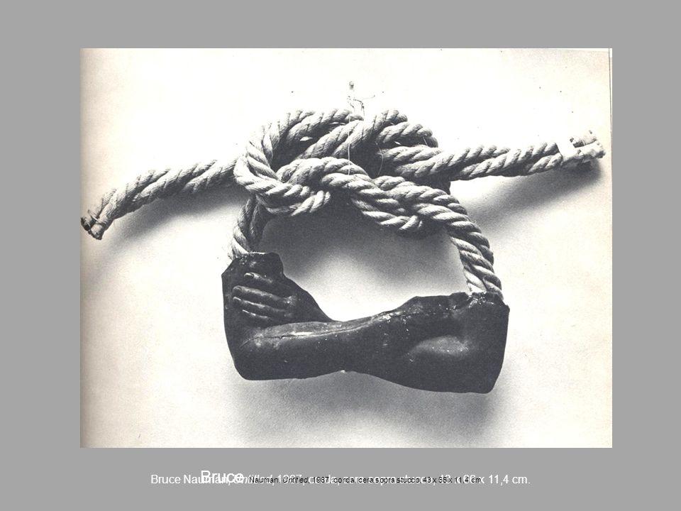 Bruce Nauman, Untitled, 1967, corda, cera sopra stucco, 43 x 66 x 11,4 cm. Bruce Nauman, Untitled, 1967, corda, cera sopra stucco, 43 x 66 x 11,4 cm