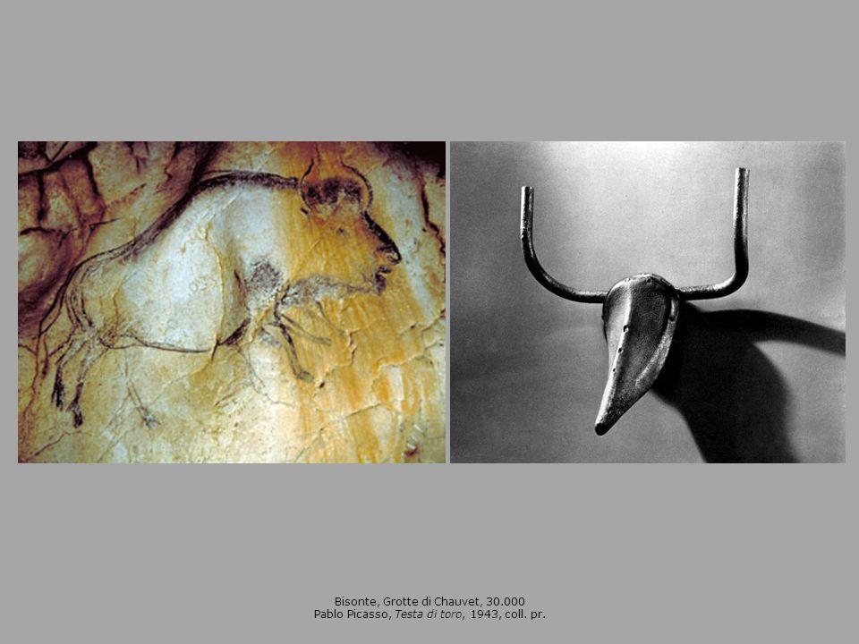 Bisonte, Grotte di Chauvet, 30.000 Pablo Picasso, Testa di toro, 1943, coll. pr.