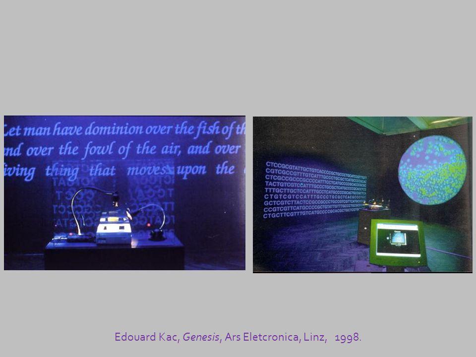 Edouard Kac, Genesis, Ars Eletcronica, Linz, 1998.