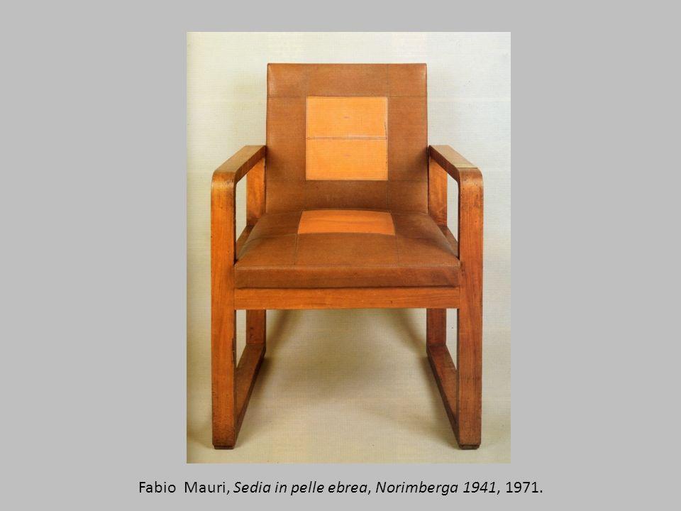 Fabio Mauri, Sedia in pelle ebrea, Norimberga 1941, 1971.