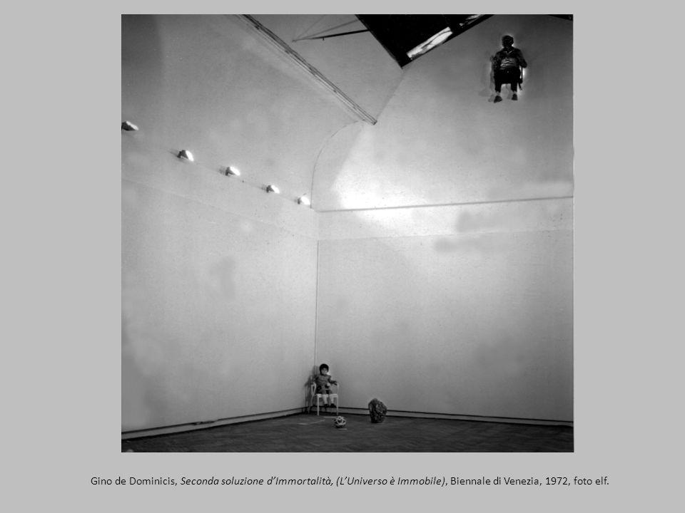 Gino de Dominicis, Seconda soluzione dImmortalità, (LUniverso è Immobile), Biennale di Venezia, 1972, foto elf.