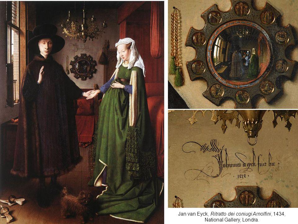 Jan van Eyck, Ritratto dei coniugi Arnolfini, 1434, National Gallery, Londra.