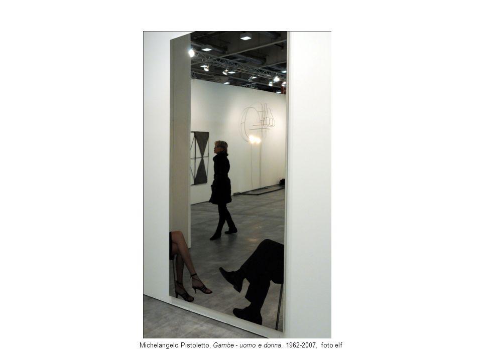 Michelangelo Pistoletto, Gambe - uomo e donna, 1962-2007, foto elf