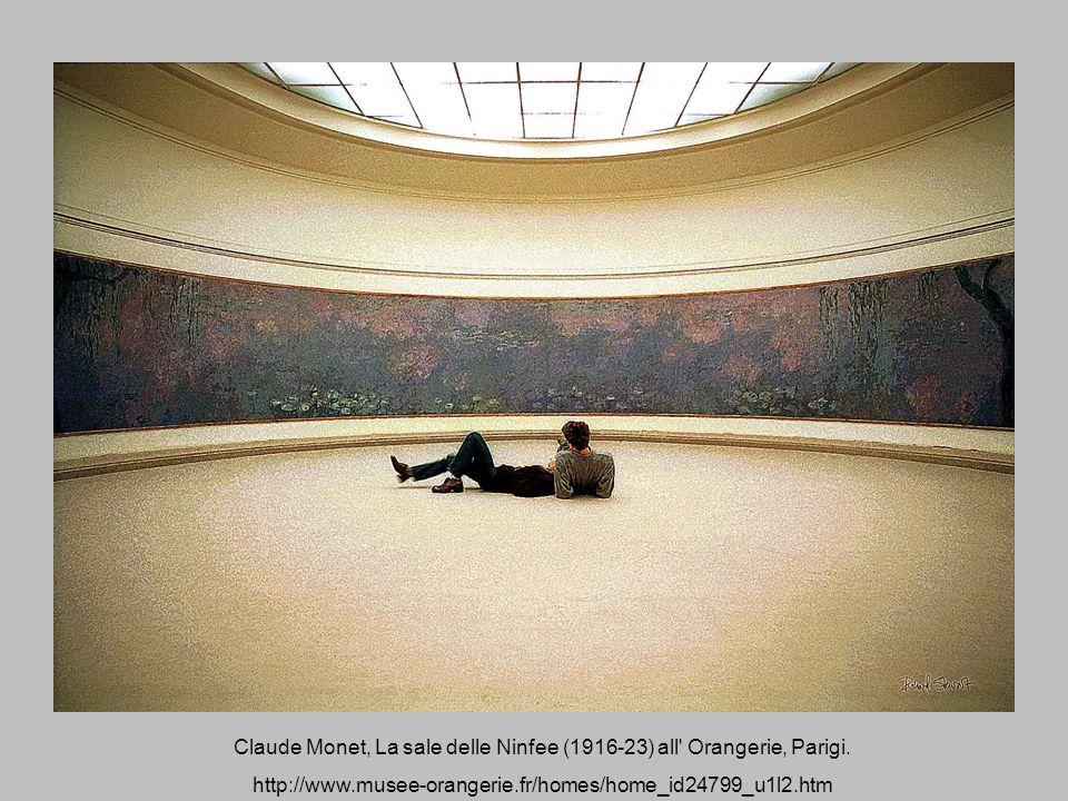 Claude Monet, La sale delle Ninfee (1916-23) all' Orangerie, Parigi. http://www.musee-orangerie.fr/homes/home_id24799_u1l2.htm