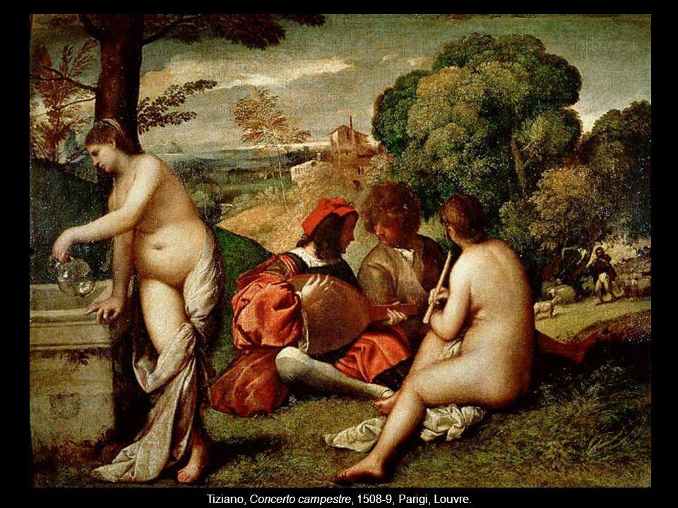 Tiziano, Concerto campestre, 1508-9, Parigi, Louvre.