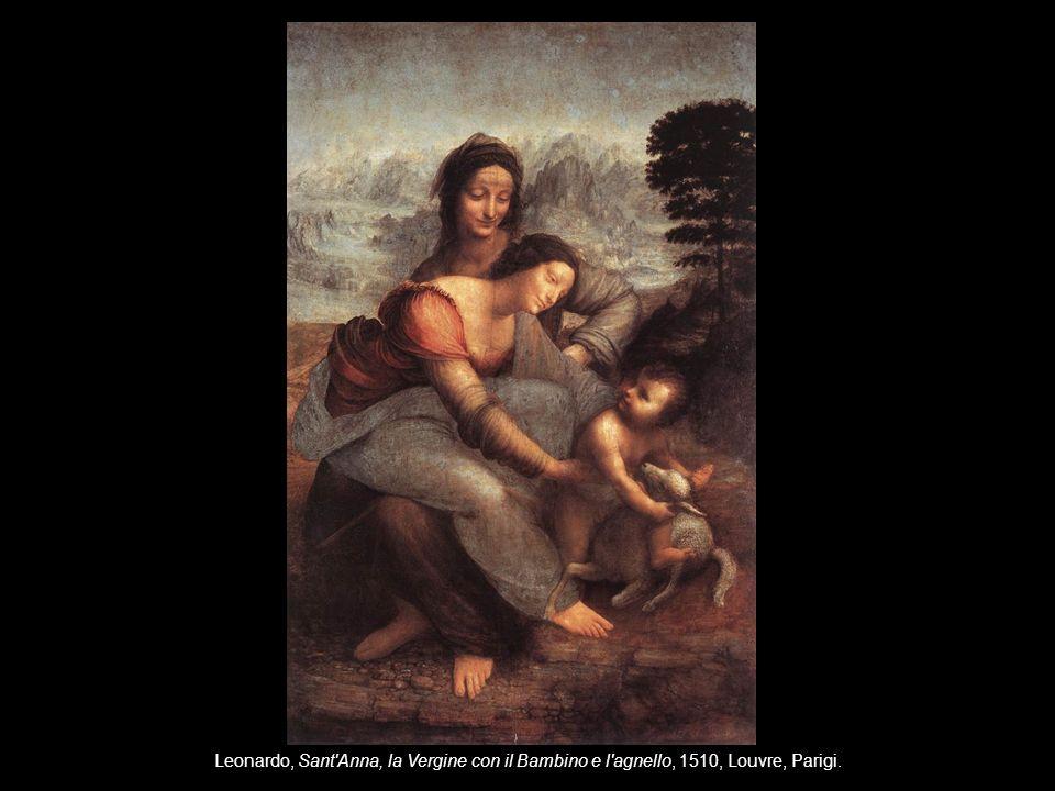 Leonardo, Sant'Anna, la Vergine con il Bambino e l'agnello, 1510, Louvre, Parigi.
