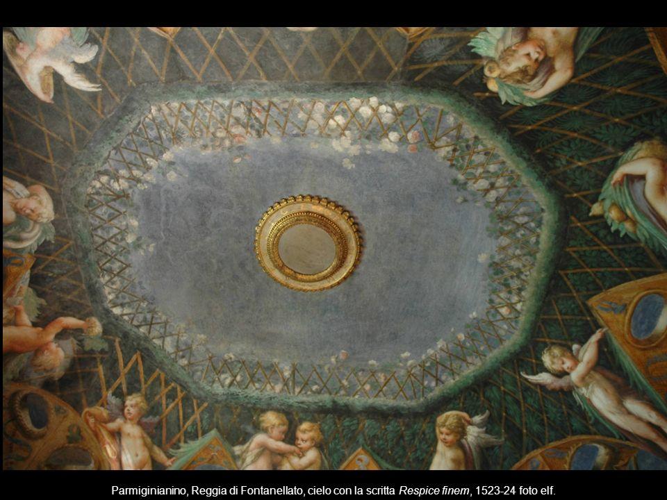 Parmiginianino, Reggia di Fontanellato, cielo con la scritta Respice finem, 1523-24 foto elf.