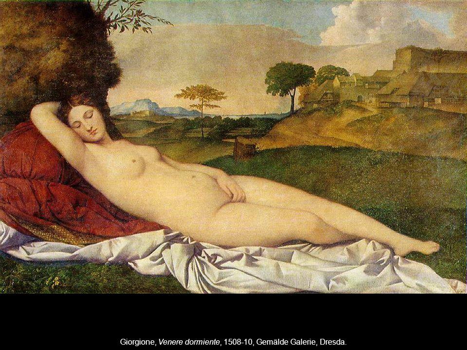 Giorgione, Venere dormiente, 1508-10, Gemälde Galerie, Dresda.