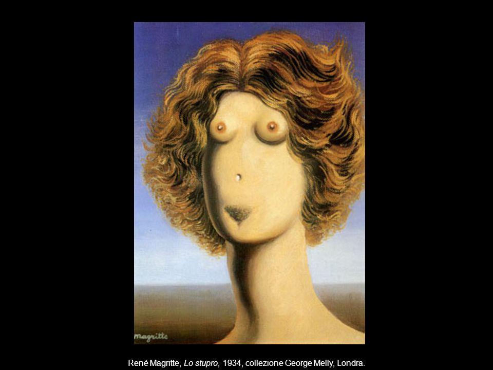 Corpo mente se x René Magritte, Lo stupro, 1934, collezione George Melly, Londra.