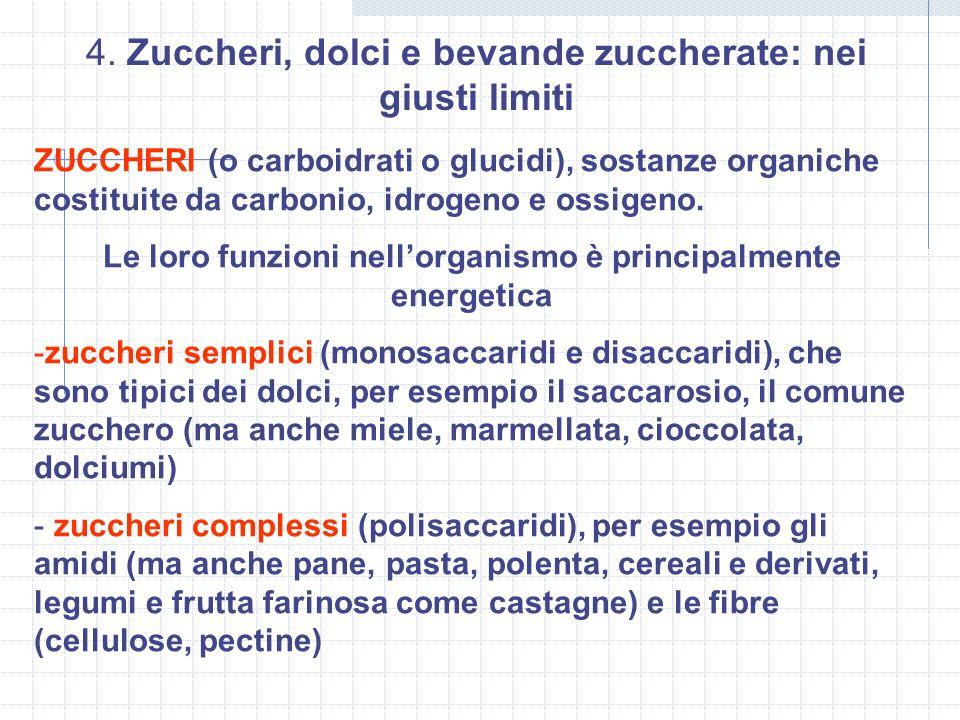 ZUCCHERI (o carboidrati o glucidi), sostanze organiche costituite da carbonio, idrogeno e ossigeno. Le loro funzioni nellorganismo è principalmente en