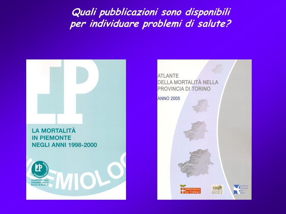Quali pubblicazioni sono disponibili per individuare problemi di salute