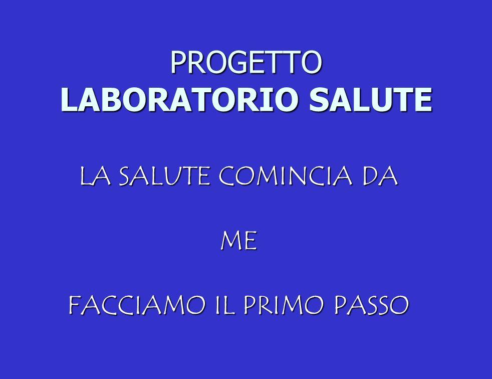 PROGETTO LABORATORIO SALUTE LA SALUTE COMINCIA DA ME FACCIAMO IL PRIMO PASSO