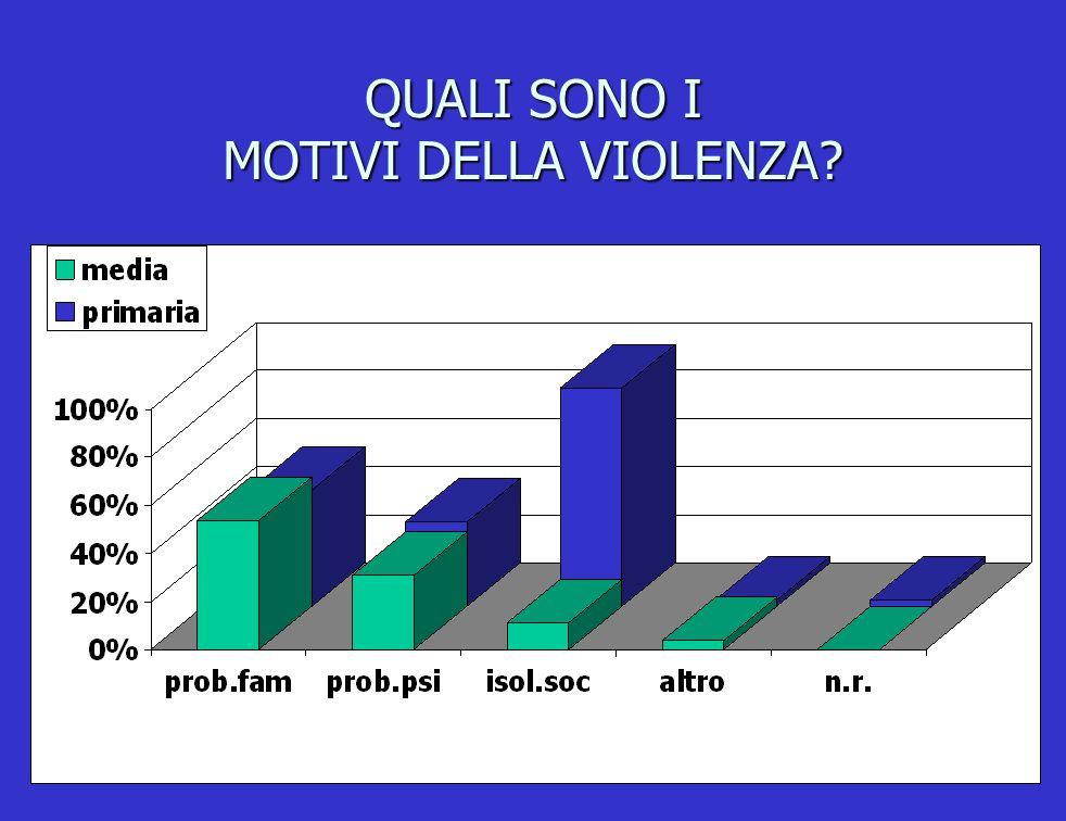 QUALI SONO I MOTIVI DELLA VIOLENZA?