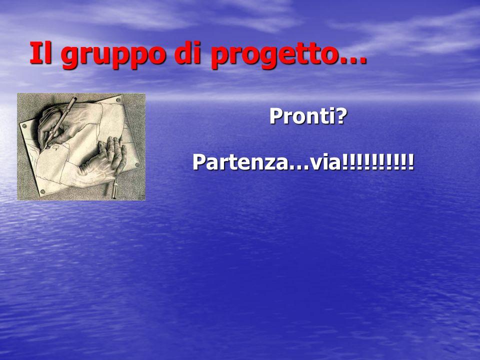 Il gruppo di progetto… Pronti Pronti Partenza…via!!!!!!!!!!