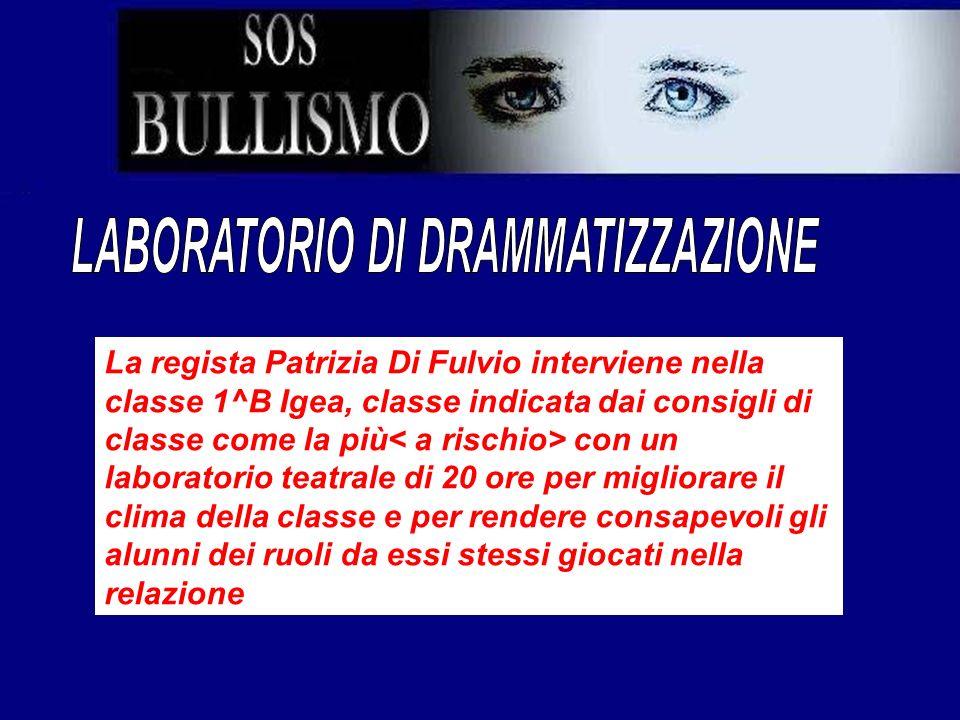 La regista Patrizia Di Fulvio interviene nella classe 1^B Igea, classe indicata dai consigli di classe come la più con un laboratorio teatrale di 20 o