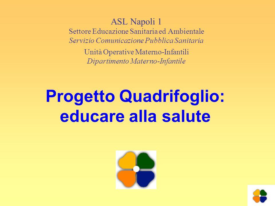Progetto Quadrifoglio: educare alla salute ASL Napoli 1 Settore Educazione Sanitaria ed Ambientale Servizio Comunicazione Pubblica Sanitaria Unità Ope