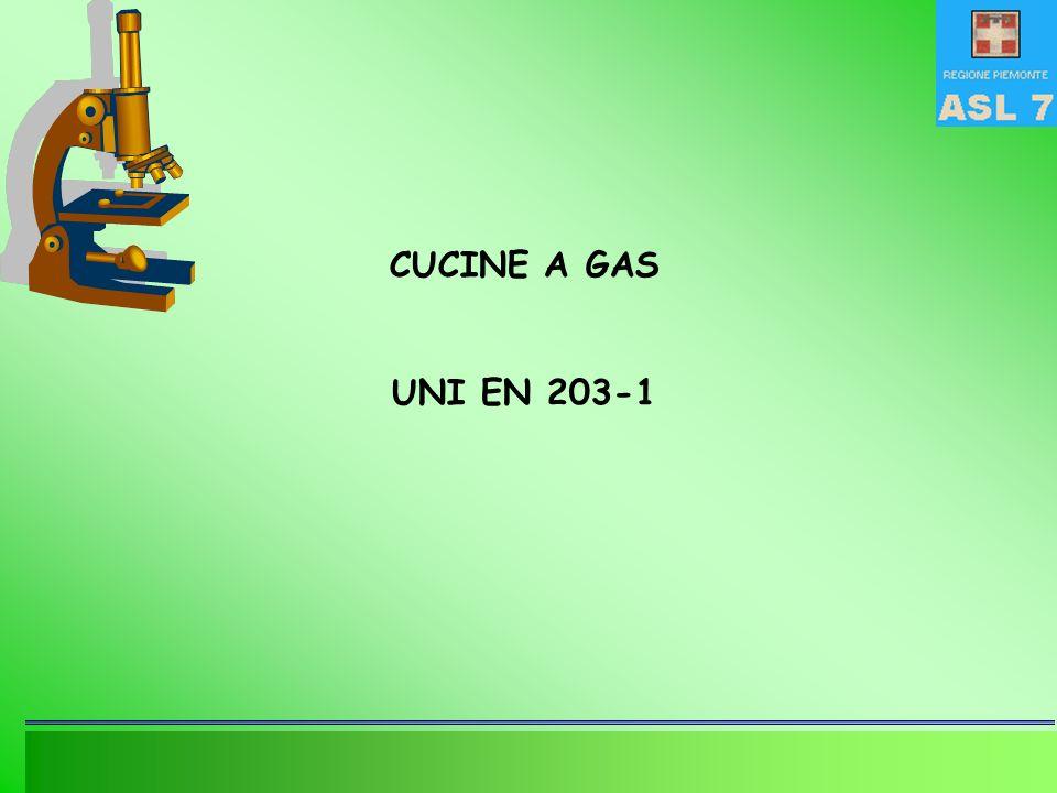 CUCINE A GAS UNI EN 203-1