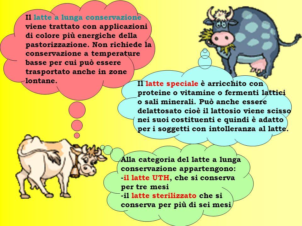 Il latte pastorizzato a temperatura elevata può essere pastorizzato più volte o subire un solo trattamento termico più intenso anche 48 ore dopo la mu