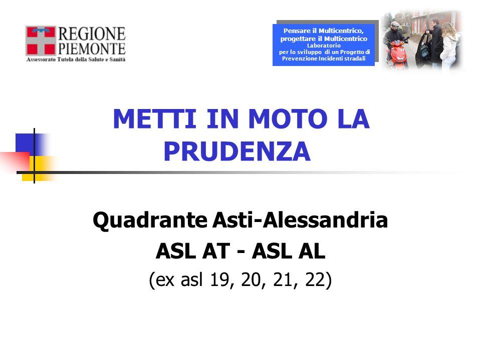 METTI IN MOTO LA PRUDENZA Quadrante Asti-Alessandria ASL AT - ASL AL (ex asl 19, 20, 21, 22) Pensare il Multicentrico, progettare il Multicentrico Lab