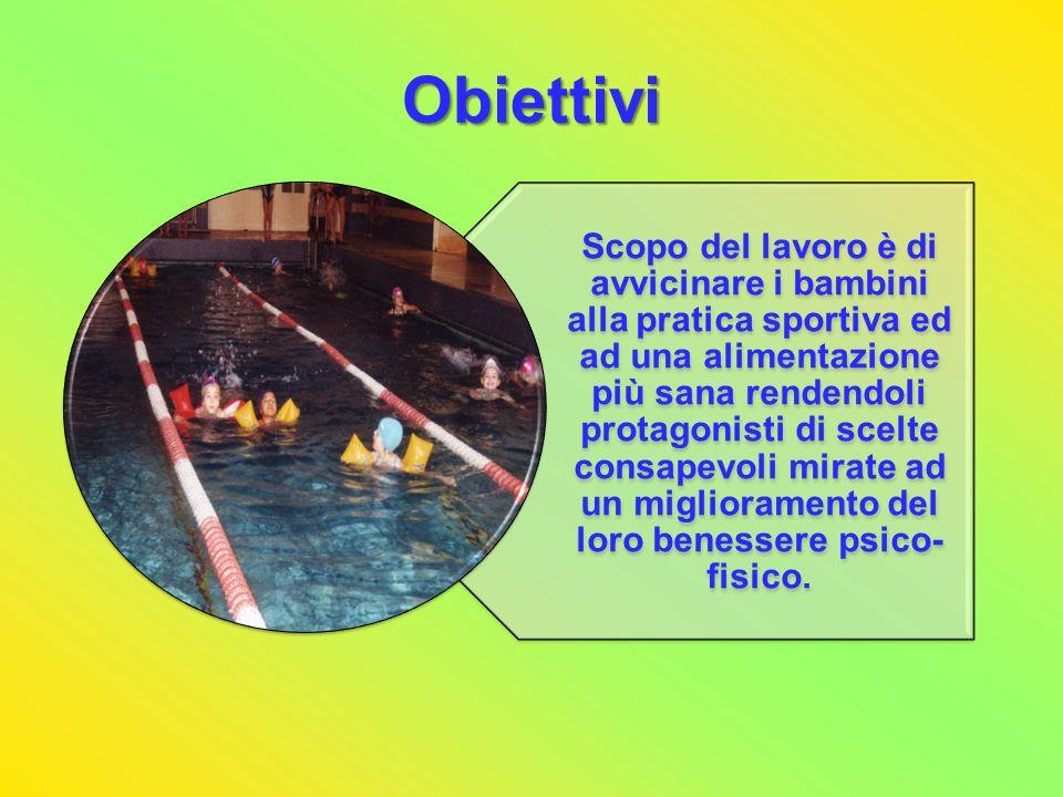 Metodi Il progetto, svoltosi durante lanno scolastico 2007-2008, ha coinvolto 190 bambini (M 101, F 89) di età compresa tra 6 e 10 anni.