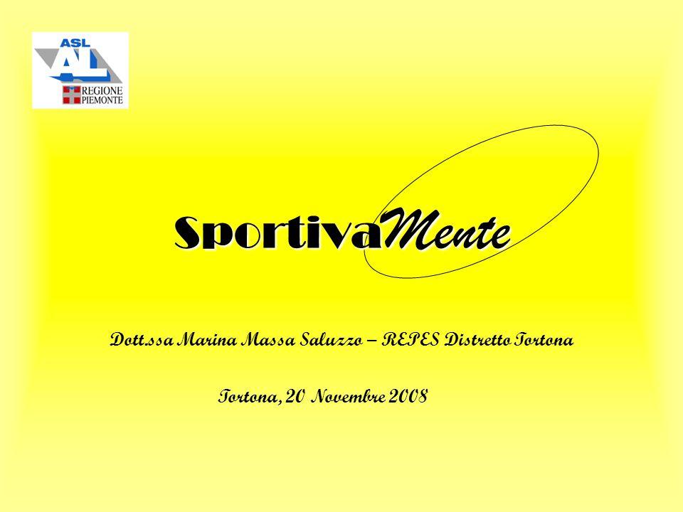 Sportiva Mente Dott.ssa Marina Massa Saluzzo – REPES Distretto Tortona Tortona, 20 Novembre 2008